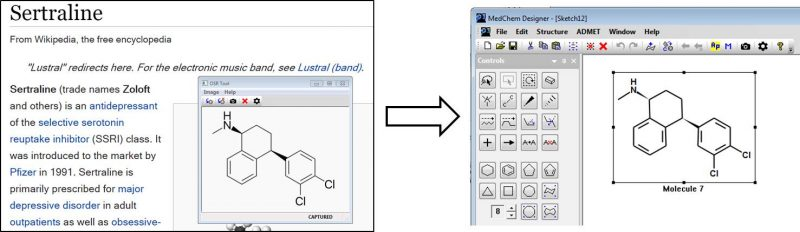 "OSR tool can be used to ""copy"" image into MedChem Designer"