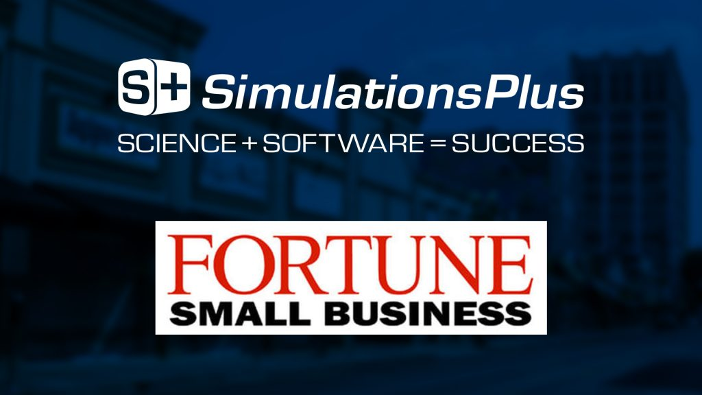 Simulations Plus Named to Fortune Small Business FSB 100 List